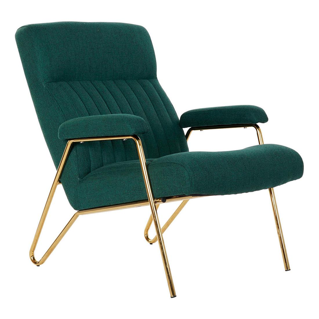 Armchair DKD Home Decor Green Polyester Metal (69 x 90 x 90 cm)