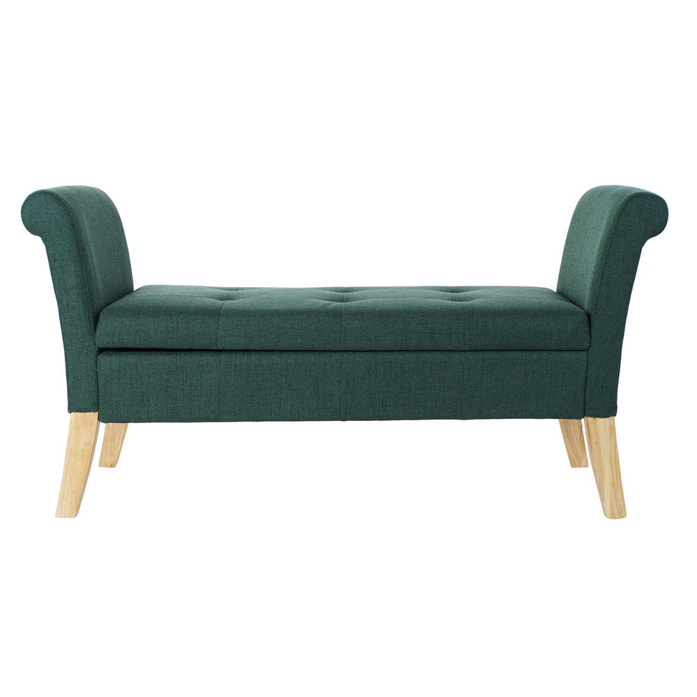 Bench DKD Home Decor Green Polyester Wood (130 x 44 x 69 cm)