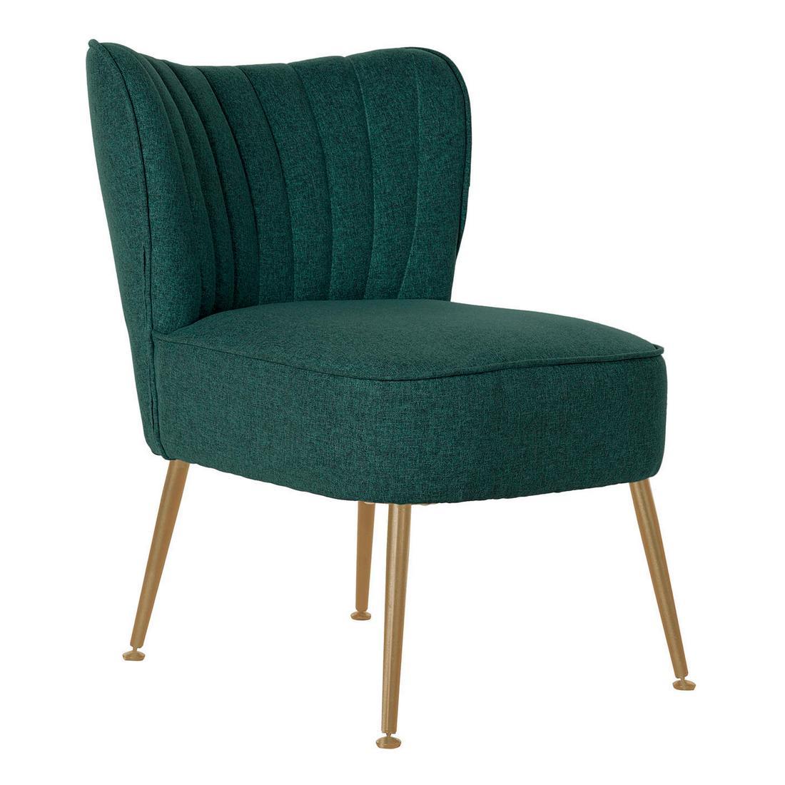 Armchair DKD Home Decor Green Polyester Metal (55 x 64 x 72.5 cm)