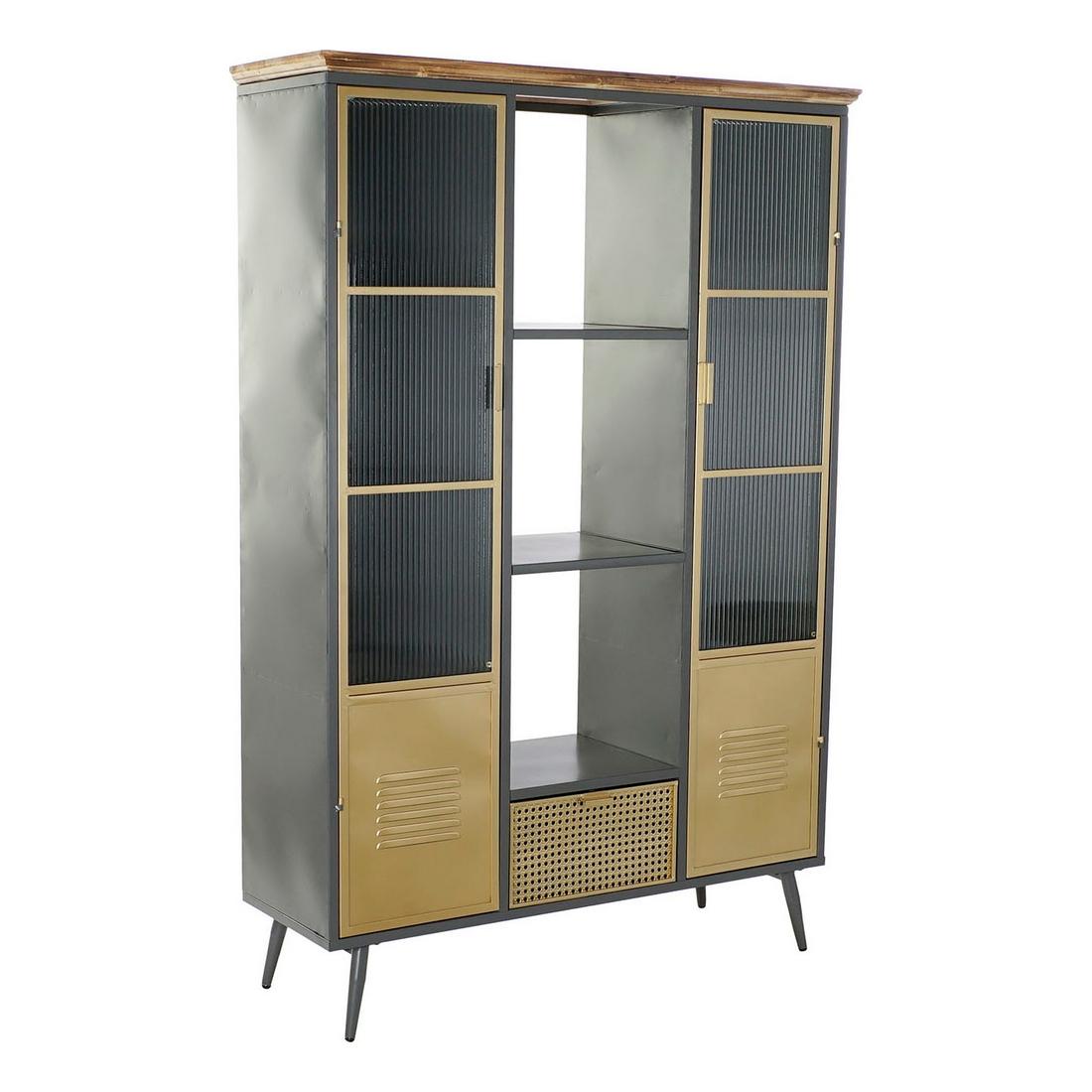 Bookshop DKD Home Decor Metal Crystal (122 x 40 x 182 cm)