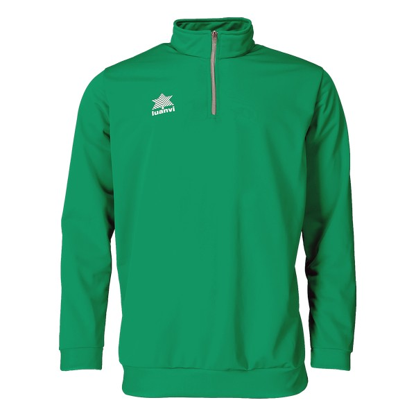 Sweatshirt without Hood Luanvi Pol Green