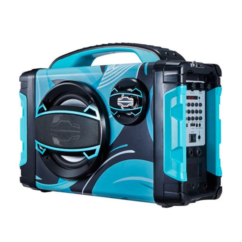 Altavoz Bluetooth Portátil BRIGMTON BBOX-2 FM LED 25W Azul