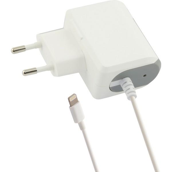 Cargador de Pared Lightning 1a Contact iPhone Blanco