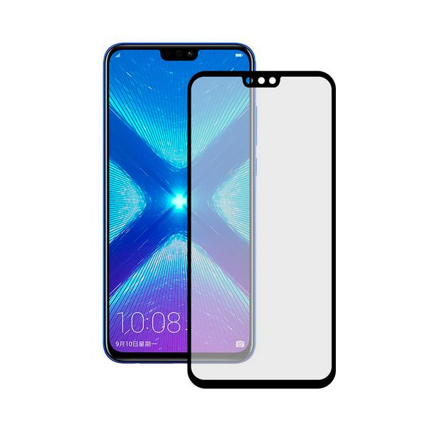 Tempered Glass Mobile Screen Protector Honor 8x KSIX Extreme 2.5D Black
