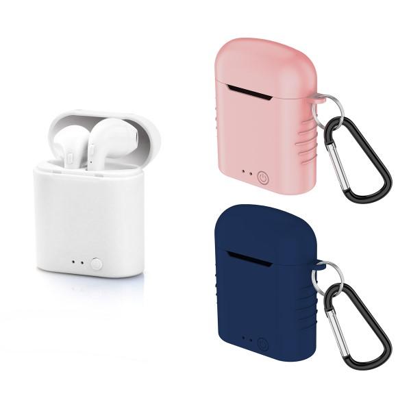 Auriculares Bluetooth con Micrófono Contact Twins Mini 400 mAh Blanco