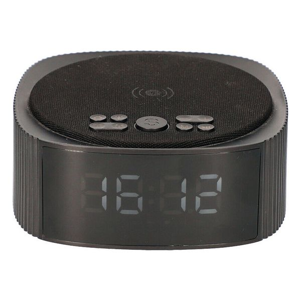 Clock-Radio with Wireless Charger KSIX Alarm Clock 3 Bluetooth 10W Black