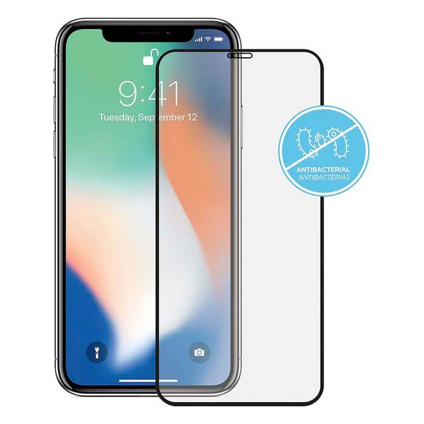 Tempered Glass Screen Protector iPhone 11 Pro KSIX Anti-Bacterial 2.5D