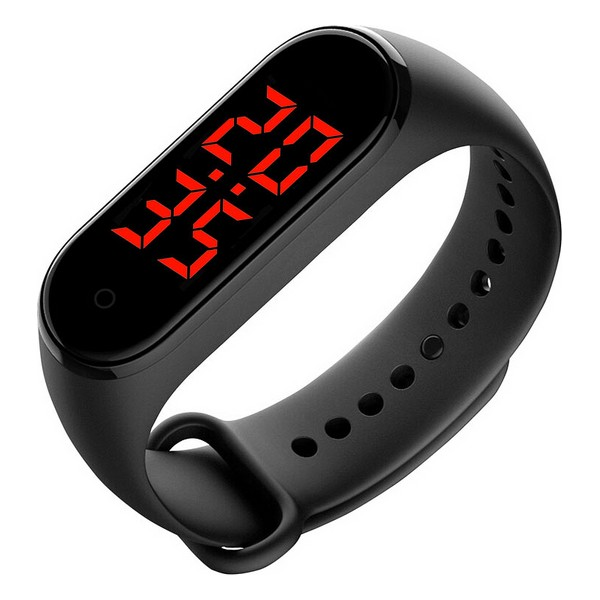 "Pulsera de Actividad Contact Thermometer 0,96"" 90 mAh Bluetooth Negro (2)"