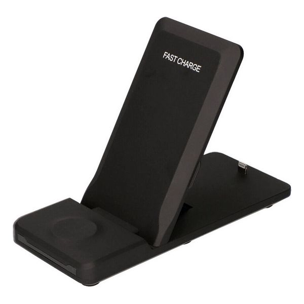 Cargador Inalámbrico KSIX Standing Station 3in1 7,5W-10W Negro (5)