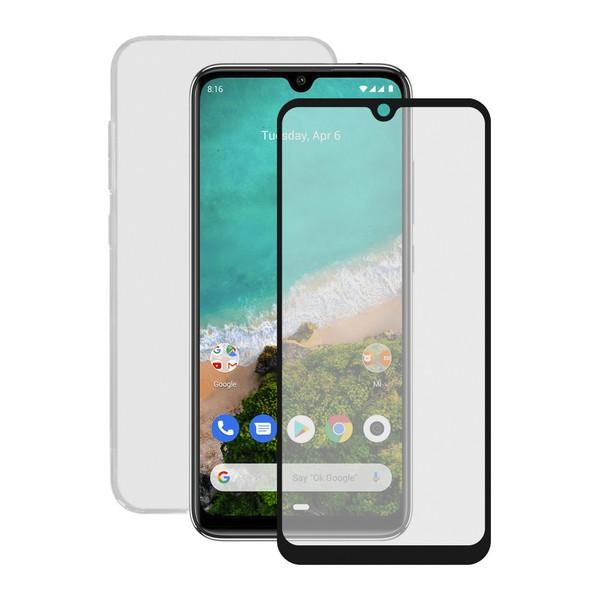 Protector de Pantalla Cristal Templado para Móvil + Funda para Móvil Xiaomi Mi A3 Contact