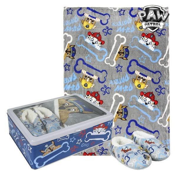 Kovinska Škatla z Odejo in Copati The Paw Patrol 73671 - 5-6 Let