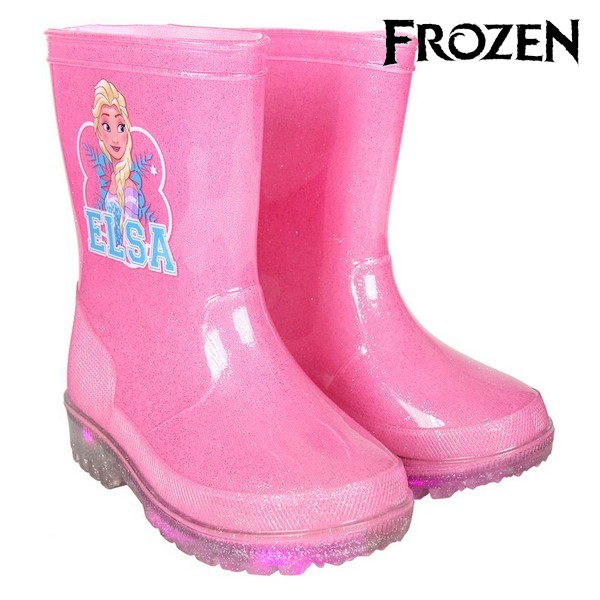 Children's Water Boots with LEDs Frozen 73499 Rosa