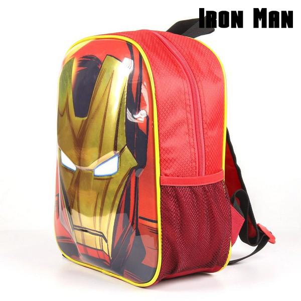 Mochila Infantil 3D Iron Man The Avengers 72613 Rojo (1)