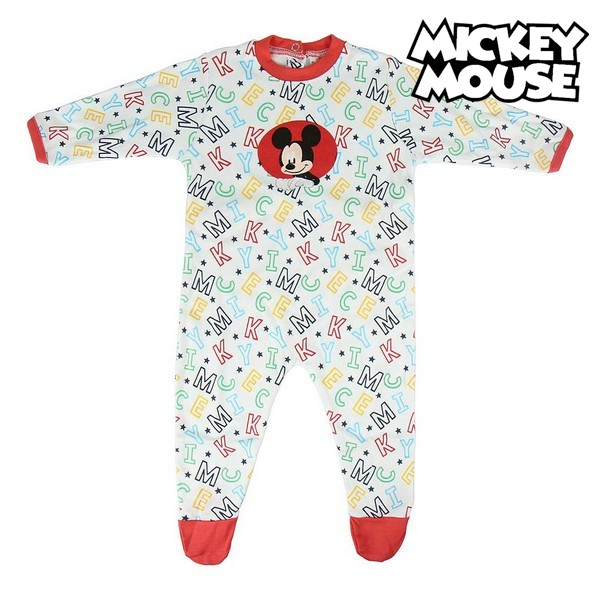 Baby's Long-sleeved Romper Suit Mickey Mouse White