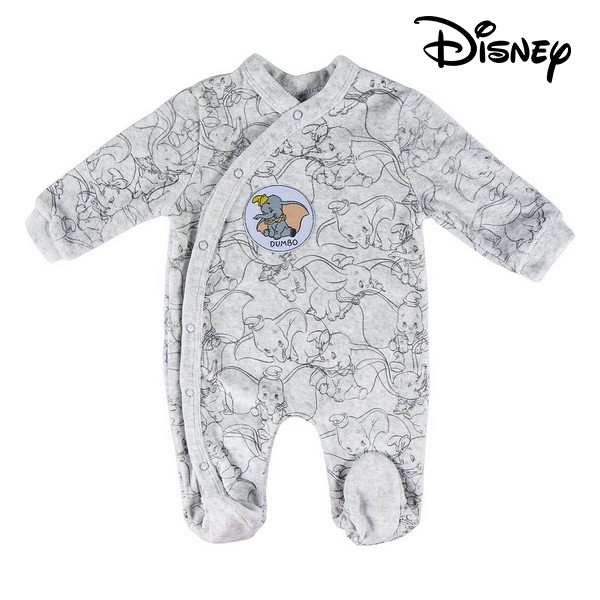 Baby's Long-sleeved Romper Suit Disney 74613 Grey