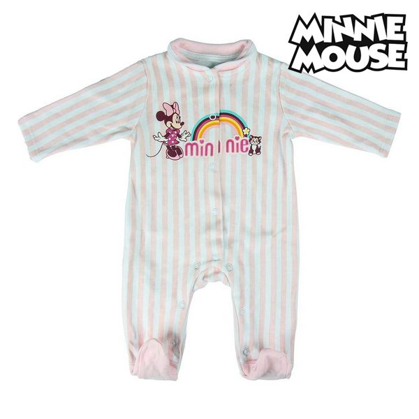Baby's Long-sleeved Romper Suit Minnie Mouse 74617 Pink