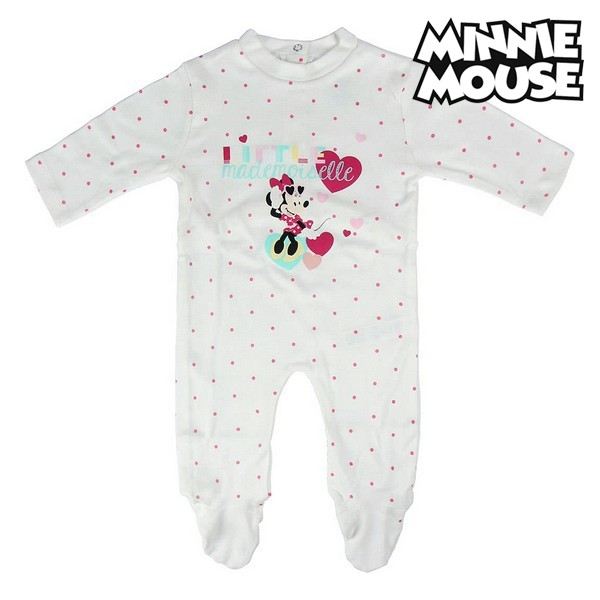 Baby's Long-sleeved Romper Suit Minnie Mouse 74649 White