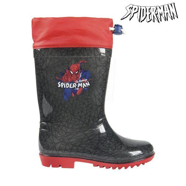 Children's Water Boots Spiderman Grey Red