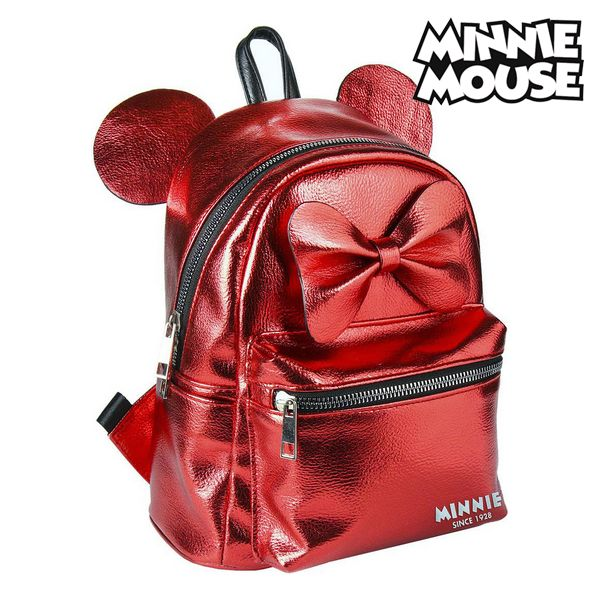 Mochila Casual Minnie Mouse 72822 Rojo Metalizado