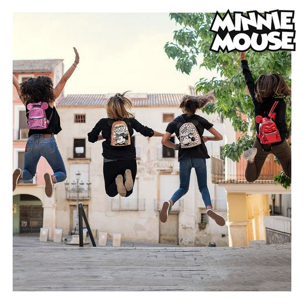 Mochila Casual Minnie Mouse 72822 Rojo Metalizado (4)