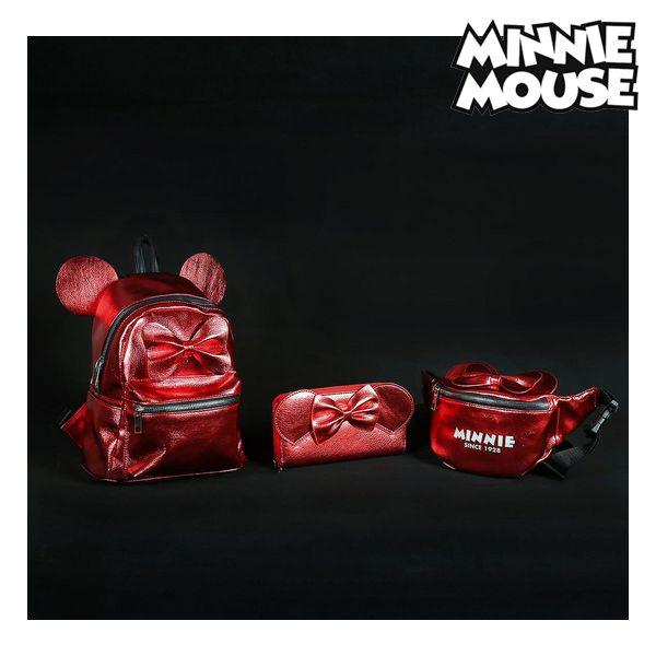 Mochila Casual Minnie Mouse 72822 Rojo Metalizado (1)