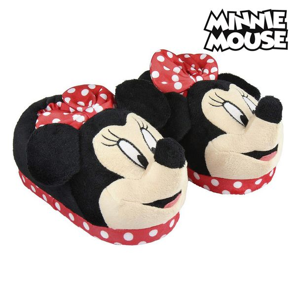 House Slippers 3d Minnie Mouse Red