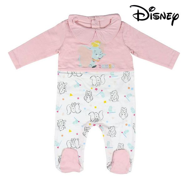 Baby's Long-sleeved Romper Suit Dumbo Disney Pink