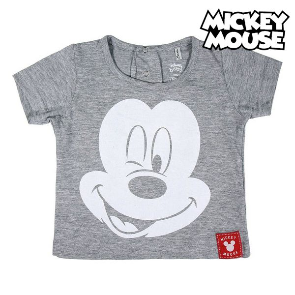 Child's Short Sleeve T-Shirt Mickey Mouse Grey