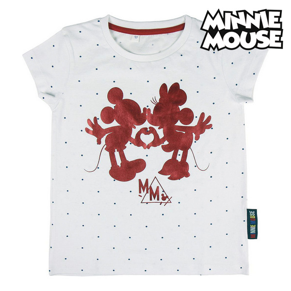 Child's Short Sleeve T-Shirt Minnie Mouse White