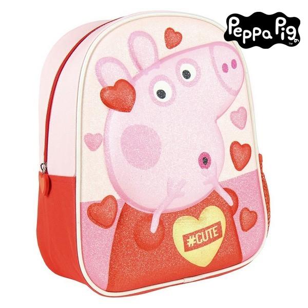 3D Child bag Peppa Pig Pink Red