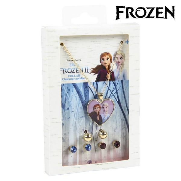 Conjunto Collar y Pendientes Frozen 71365 Dorado