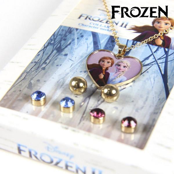 Conjunto Collar y Pendientes Frozen 71365 Dorado (1)