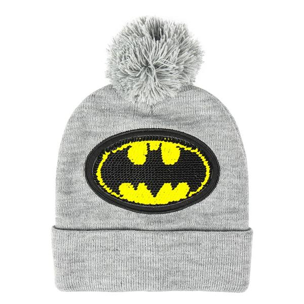 Child Hat Batman Grey