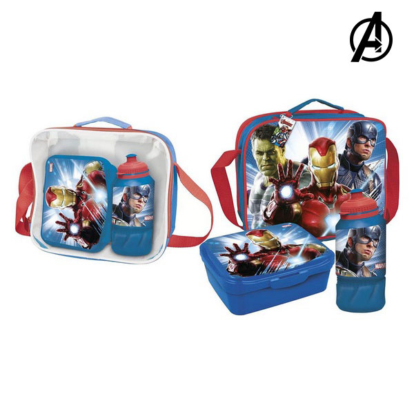Lunchbox with Accessories The Avengers Blue