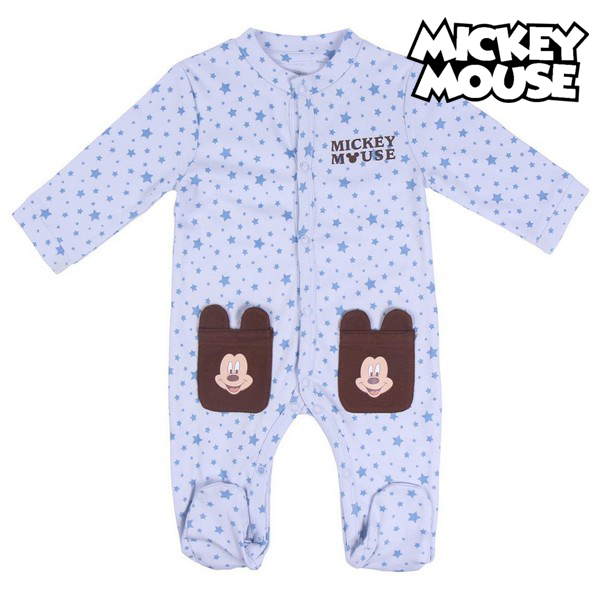 Baby's Long-sleeved Romper Suit Mickey Mouse Blue