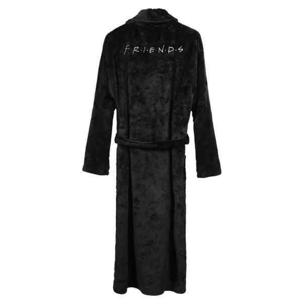 Dressing Gown Friends Adult Black