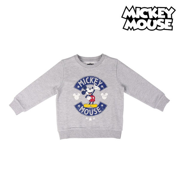 Men's Sweatshirt without Hood Mickey Mouse Grey