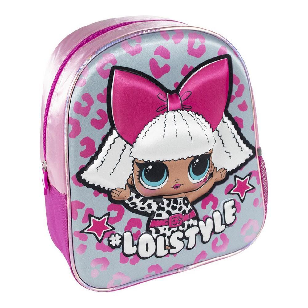 3D Child bag LOL Surprise! Pink (25 x 31 x 1 cm)