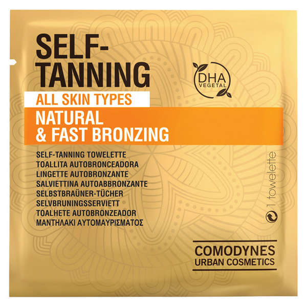 Self-bronzing towelettes Natural & Fast Bronzing Comodynes (8 uds)