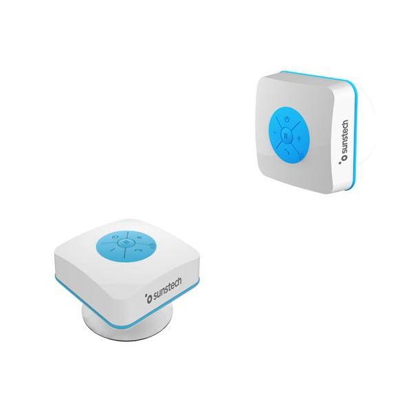 Altavoz Bluetooth Sunstech SPBTSHOWER 500 mAh 3W Blanco Azul
