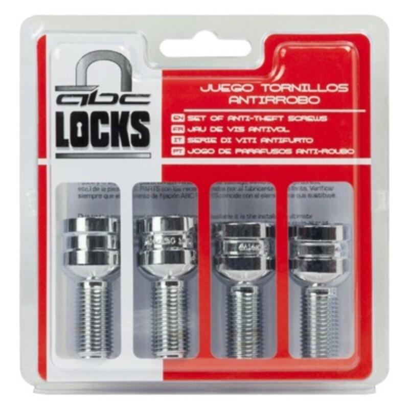 Anti-Theft Screws BC Corona 14X150 L27 17/19 Silver (4 uds)