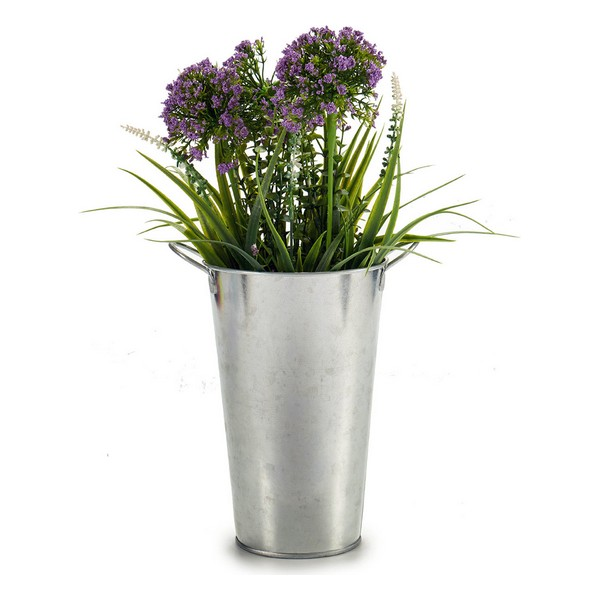Bucket Tall Silver Zinc (15 x 22,5 x 20 cm)