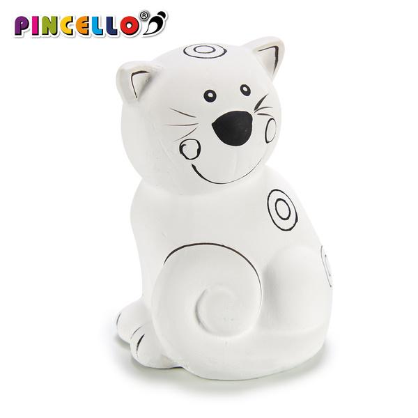 Money box PVC Ceramic Cat (8,5 x 12 x 8,5 cm)