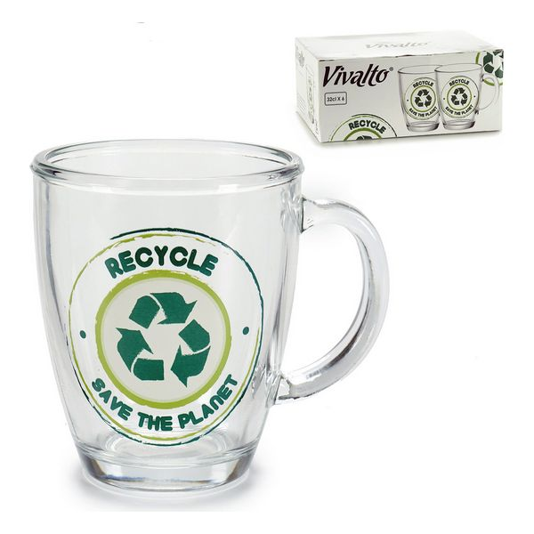 Jug Recycle Save The Planet Crystal (32 cl)
