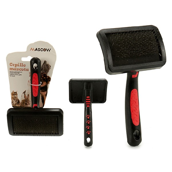 Brush Medium Black/Red Pets