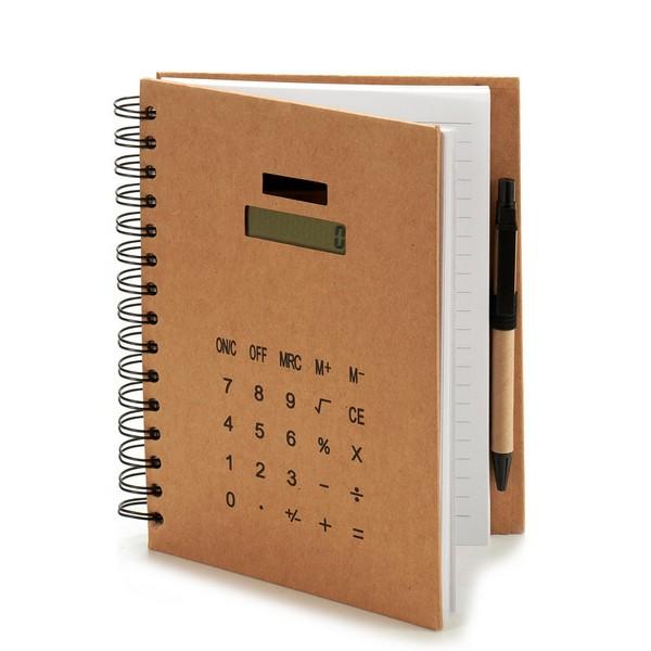Notebook (2,5 x 21 x 18 cm) Calculator