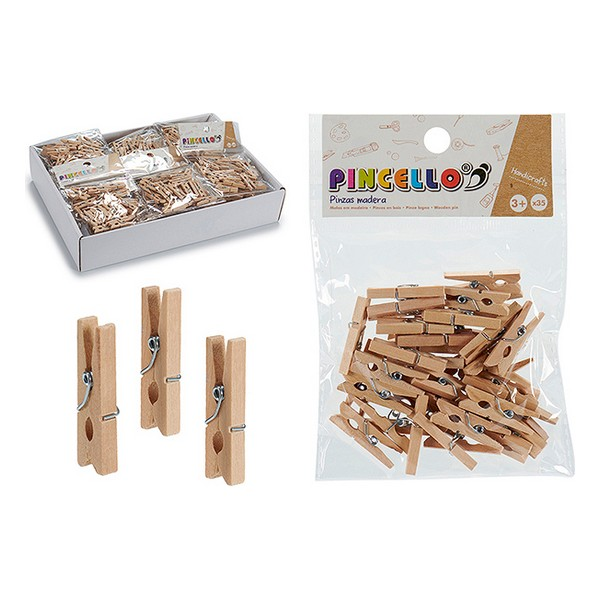 Clamps Wood Natural (35 Pieces)