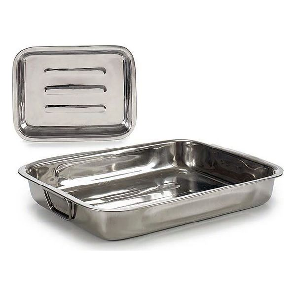 Baking tray Steel (27 x 5 x 35,5 cm)