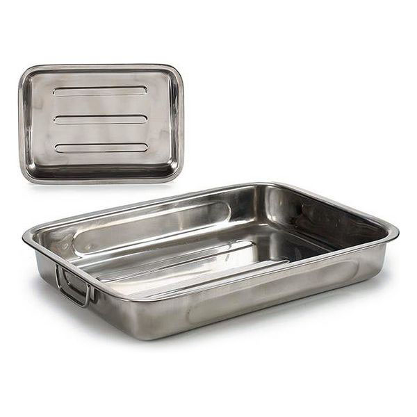Baking tray Steel (28,5 x 5,5 x 40 cm)