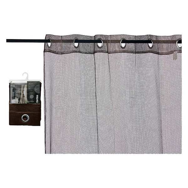 Curtains (1 x 260 x 140 cm) Brown